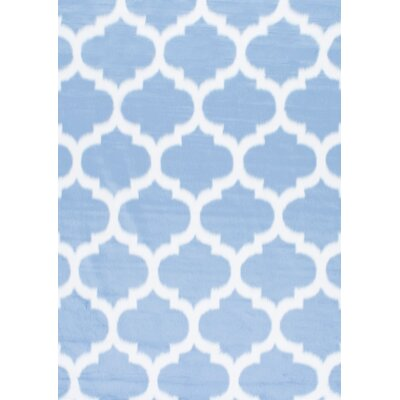 Rosemarie Faux Sheepskin Blue Area Rug Rug Size: Rectangle 4 x 6
