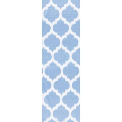 Rosemarie Faux Sheepskin Blue Area Rug Rug Size: Runner 26 x 8