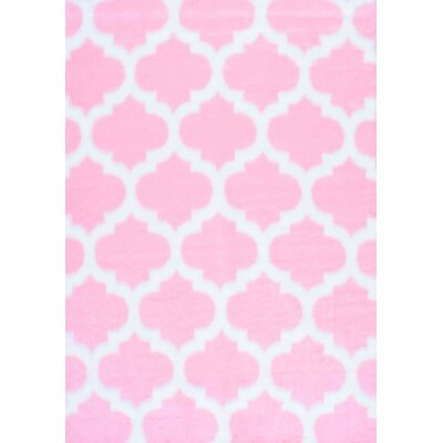 Rosemarie Faux Sheepskin Pink Area Rug Rug Size: Rectangle 4 x 6