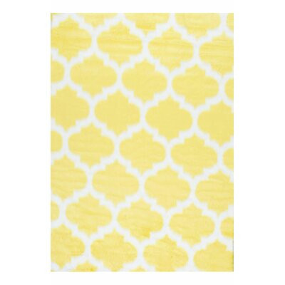 Rosemarie Faux Sheepskin Yellow Area Rug Rug Size: Runner 26 x 8
