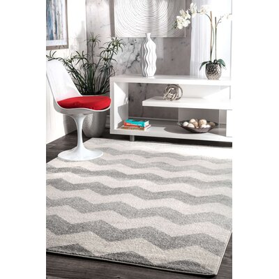 Rowan Gray Area Rug Rug Size: Rectangle 53 x 77