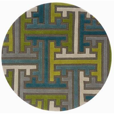 Ayana Geometric Puzzle Rug Rug Size: Round 79