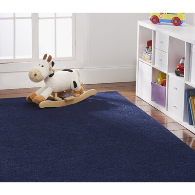 Anika Midnight Navy Blue Area Rug Rug Size: Rectangle 9 x 12