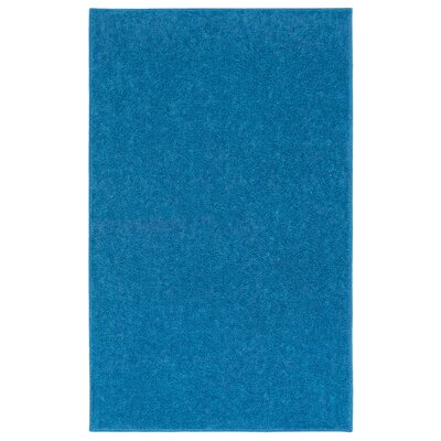 Anika Royal Sky Blue Area Rug Rug Size: 6 x 9