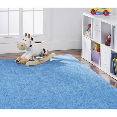 Anika Royal Sky Blue Area Rug Rug Size: Rectangle 3 x 5
