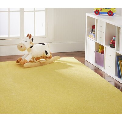 Anika Sunshine Yellow Area Rug Rug Size: Rectangle 6 x 9