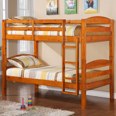 Abby Twin Over Twin Bunk Bed Finish: Honey