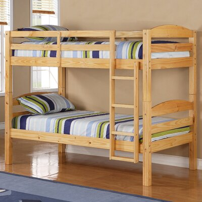 Abby Twin Over Twin Bunk Bed Finish: Natural