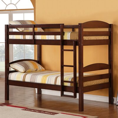 Abby Twin Over Twin Bunk Bed Finish: Espresso