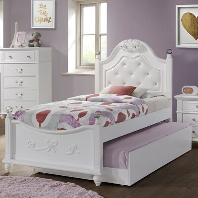 Lydia Upholstered Panel Bed Size: Twin