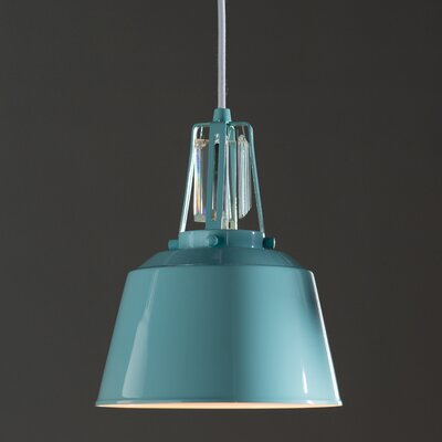 Sarah 1-Light Mini Pendant Finish: Hi Gloss Blue