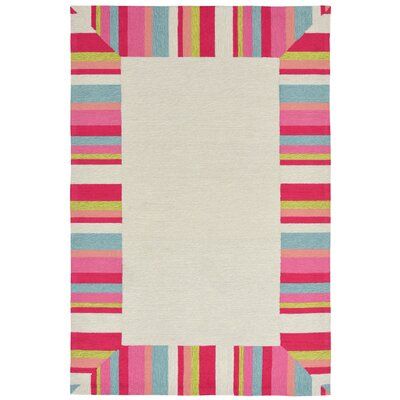 Misty Hand-Tufted Beige Indoor/Outdoor Area Rug Rug Size: 83 x 116