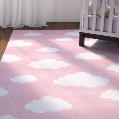Lily Cloudy Sachiko Hand-Tufted Pink Area Rug Rug Size: 76 x 96