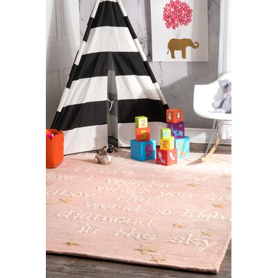 Paola Trenton Baby Novelty Pink Area Rug Rug Size: Rectangle 7 6 x 9 6
