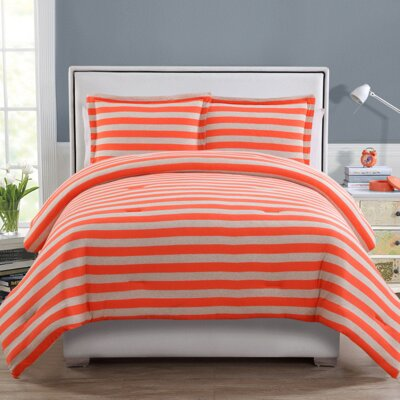 Heywood 2 Piece Twin/XL Comforter Set Color: Light Orange, Size: Twin/Twin XL