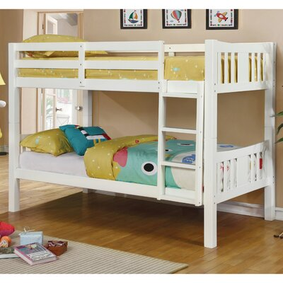 Abraham Twin Bunk Bed Finish: White