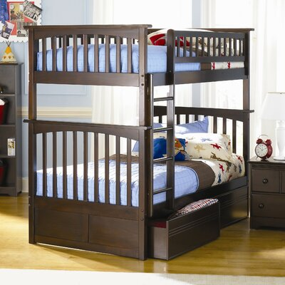 Henry Bunk Bed with Storage Configuration: Full over Full, Finish: Natural Maple