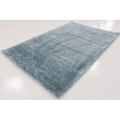 Evelyn Light Blue Area Rug Rug Size: Square 8
