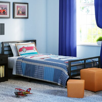 Hobart Panel Bed Size: Twin, Color: Black