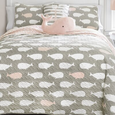 Finley Reversible Quilt Set Size: Full/Queen, Color: Pink