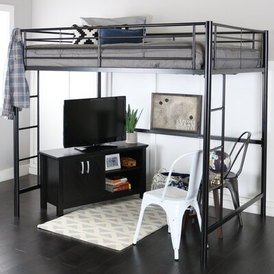 Maurice Full Loft Bed Finish: Black