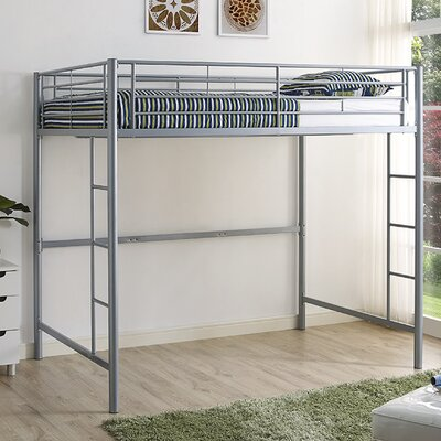 Maurice Full Loft Bed Finish: Silver