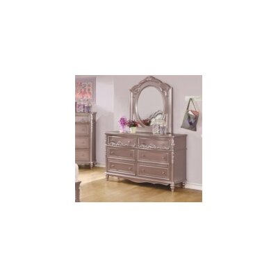 Whitney 6 Drawer Dresser with Mirror