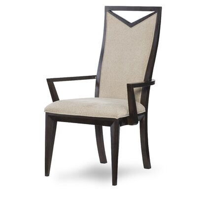 Alysa Wood Back Arm Chair (Set of 2)