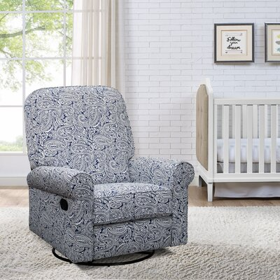Basil Manual Swivel Glider Recliner Upholstery: Indigo