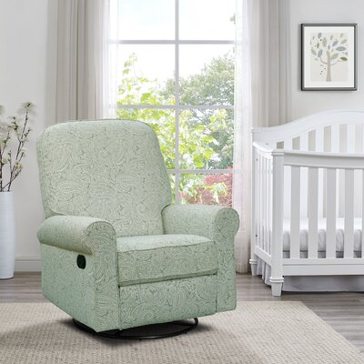 Basil Manual Swivel Glider Recliner Upholstery: Spearmint