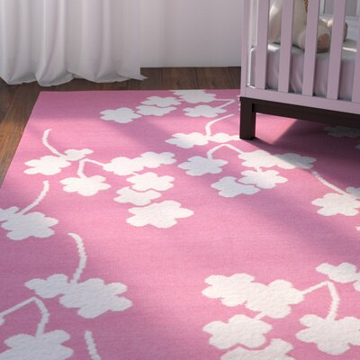 Gilda Flamingo Hand-Woven Pink Area Rug Rug Size: Rectangle 2 x 3