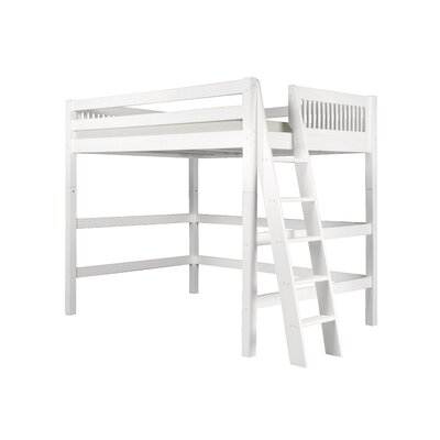 Isabelle Loft Bed Color: White, Size: Twin