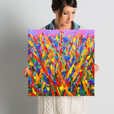 'Growing Wild' Painting Print on Wrapped Canvas Size: 18