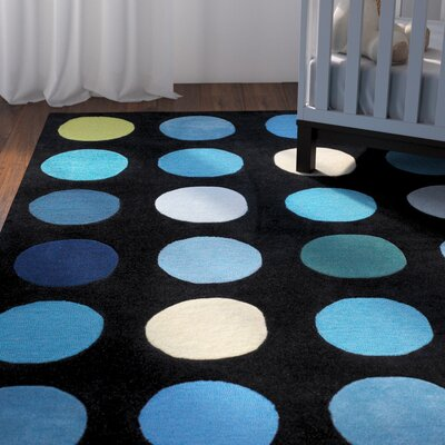 Ronnie Hand-Tufted Blue/Black Area Rug Rug Size: Rectangle 110 x 210