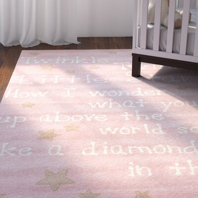 Paola Trenton Baby Novelty Pink Area Rug Rug Size: 36 x 56