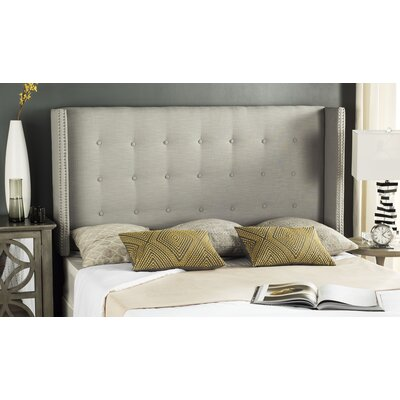 Keisha Upholstered Wingback Headboard Size: Full, Upholstery: Silver