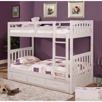 Kaitlyn Twin Bunk Bed Finish: White