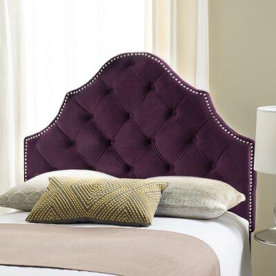 Isaac Twin Upholstered Panel Headboard Upholstery: Aubergine