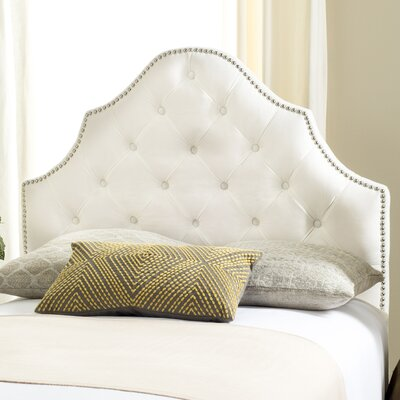 Isaac Twin Upholstered Panel Headboard Upholstery: White