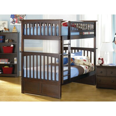 Henry Bunk Bed Configuration: Full over Full, Finish: Antique Walnut