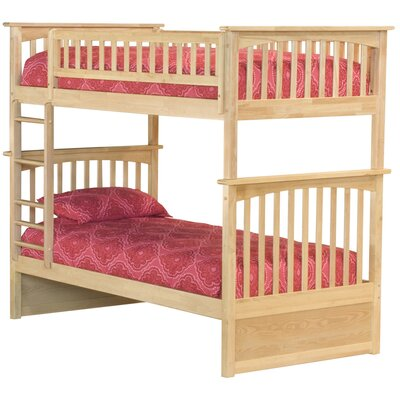 Henry Bunk Bed Size: Twin over Full, Color: Natural Maple