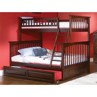 Henry Bunk Bed with Trundle Size: Full over Full, Color: Antique Walnut