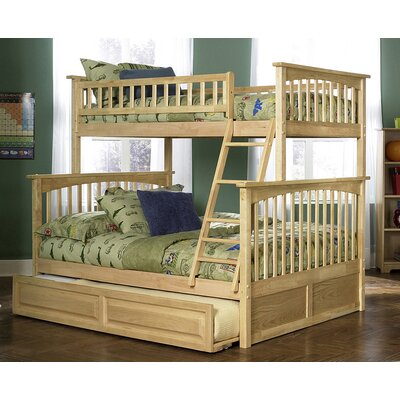 Henry Bunk Bed with Trundle Size: Twin over Full, Color: Natural Maple