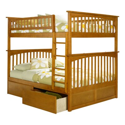 Abel Full Over Full Bunk Bed with Drawers Bed Frame Color: Caramel Latte