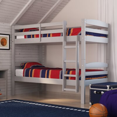Aileen Twin over Twin Bunk Bed Color: Grey