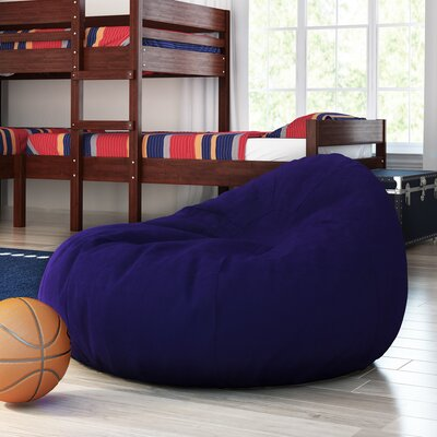 Large Beads Bean Bag Chair Upholstery: Navy