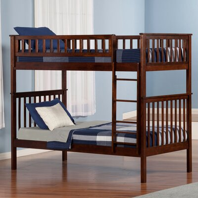 Shyann Twin over Twin Bunk Bed Color: Antique Walnut