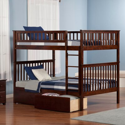 Shyann Bunk Bed with Storage Finish: Antique Walnut