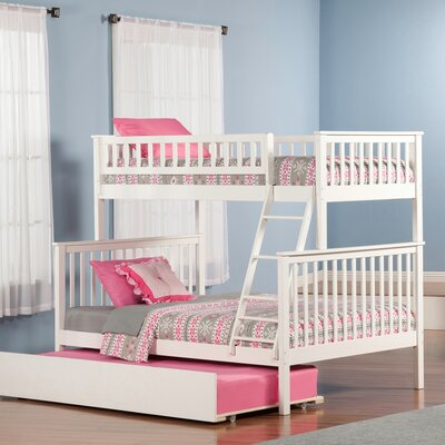 Shyann Bunk Bed with Trundle Color: White