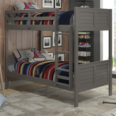 Sherry Twin over Twin Bunk Bed Color: Grey